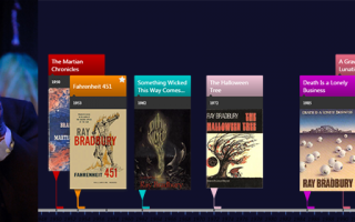 Timelines of books and short stories by Ray Bradbury